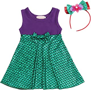 FYMNSI Little Girls Princess Birthday Halloween Cosplay Costume + Headband 2pcs Christmas Cake Smash Outfits