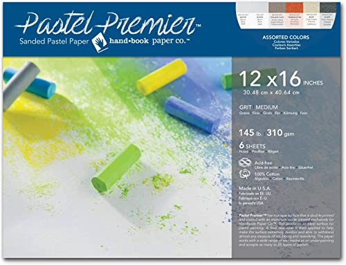 400 Grade Paper 10-Pack UART Sanded Pastel Paper M-147742 12-Inch//18-Inch No
