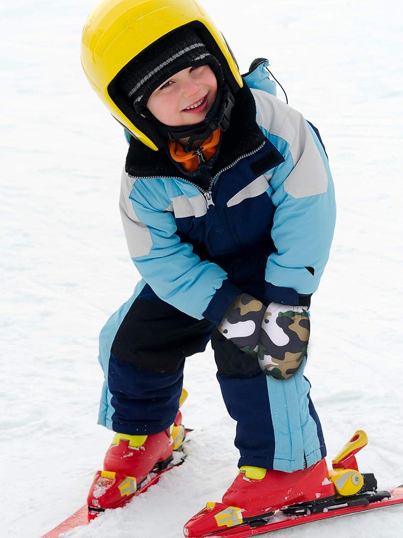 2 Pairs Kids Snow Mittens Boys Girls Ski Gloves Winter Warm Gloves