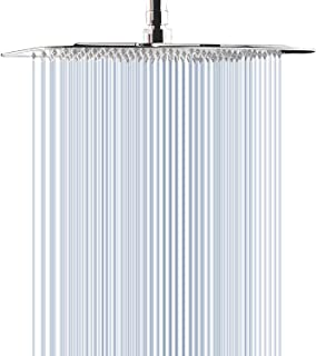 Large Rain Shower Head, 12 Inch Stainless Steel Square Showerhead, STrighter High Pressure Ultra Thin Design-Best Waterfall Full Body Coverage with Silicone Nozzle Easy to Clean and Install
