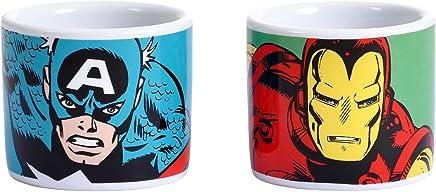 Preisvergleich für Avengers Iron Man Captain America 2 Eierbecher Schalen Offizielle Marvel-Comics