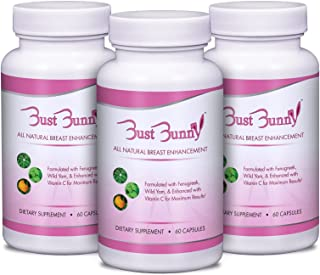 Breast Enhancement Pills with Vitamin C - 3 Month Supply | #1 Natural Way to a Fuller, Firmer Look by BUST BUNNY