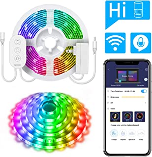 DreamColor 16.4ft LED Strip Lights, Govee WiFi Wireless Smart Light Strip Works with Alexa, Google Assistant Phone Controlled RGB Color Changing Light Sync to Music, Android iOS (Not Support 5G WiFi)