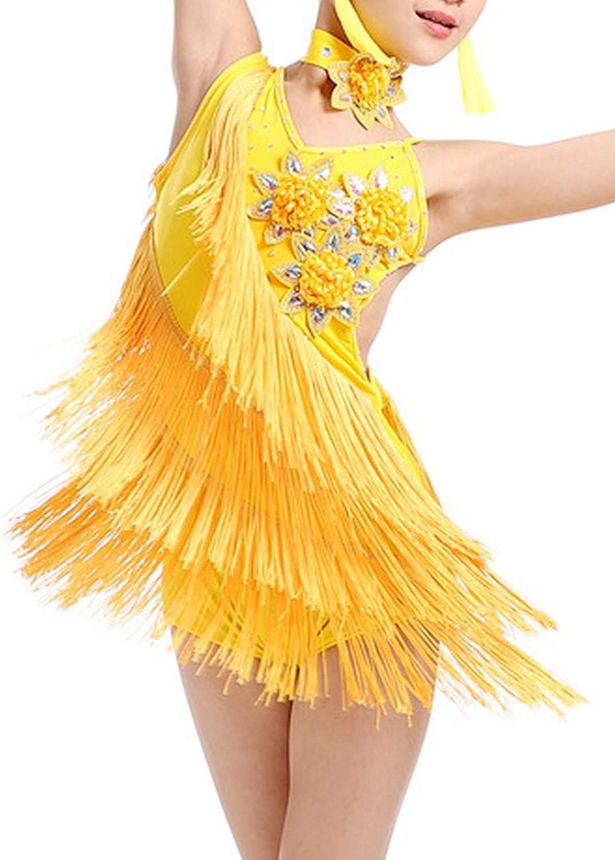 1920s Flapper Dress for Girls Sequined Childs Costume Fringe Dance Performance Dress Accessories Set