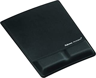 Fellowes MousePad with Wrist Support, Black - 9181201