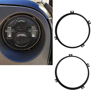 Best jeep wrangler headlight retaining ring black Reviews