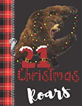 21 Christmas Roars: Lumberjack Plaid Blank Holiday Doodling & Drawing Art Book Brown Bear Sketchbook Journal For Young Men And Woman