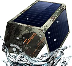 Solar Phone Charger Foldable Panel-Dual USB Solar Charger 22W Portable Waterproof Solar Power Charger for Camping & Outdoors Travel for iPhone X, 8 & 8 Plus, iPad Pro Air 2 Mini, Galaxy(Camouflage)…