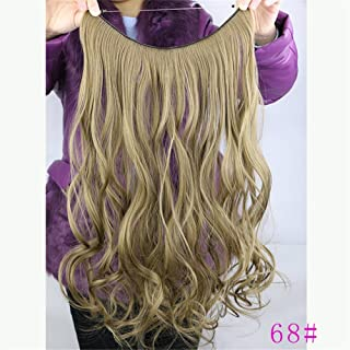 "Remeehi 18"" Body Wave Curly Hidden Halo Wire Hairpiece Synthetic Halo Hair Extensions 80G 28Cm Width 68#"
