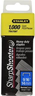 Stanley Tra709T 9/16 Inch Heavy Duty Narrow Crown Staples, Pack of 1000(Pack of 1000)