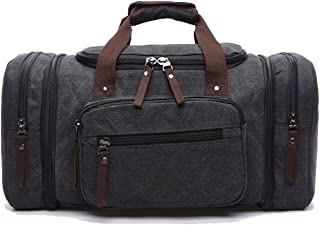 Berchirly Duffel Canvas Oversized Travel Tote Luggage Bag
