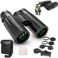 Deals on UBeesize 12x42 Compact Binoculars w/Universal Phone Holder