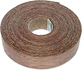 7/8 Inches (22mm) Real Walnut Iron-On Edge Banding – 25 Foot (7.5 Meter) Roll – Pre-Glued Wood Veneer Tape for Easy DIY Application – Will Cover The Edge of a Standard MDF Panel