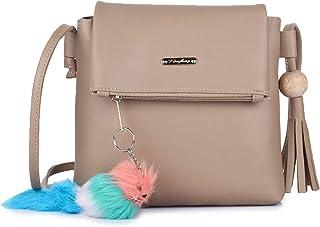 GLOSSY Women's Sling Bag (vs7770851_Beige)