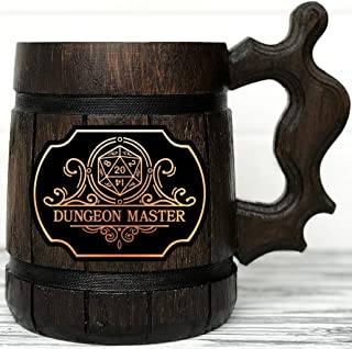 Dungeon Master Beer Mug. Dungeon and Dragons Mug. Dungeon Master Personalized Mug D&D Gift. Gift For Him. Personalized Beer Stein. Geek Gift. Wooden Beer Mug. Personalized Gamer Gift Beer Tankard K161