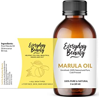 Marula Oil - Pure Virgin Unrefined Face Oil 2oz - Cold Pressed & All Natural Oil for Skin and Body - DIY Cosmetics
