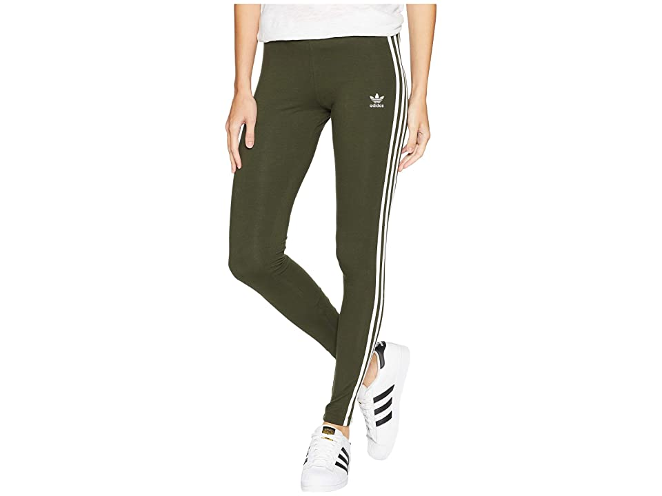 adidas Originals 3 Stripes Tights (Night Cargo) Women