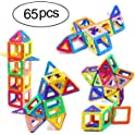 Ranphykx 65 Piece Magnetic Building Blocks Set