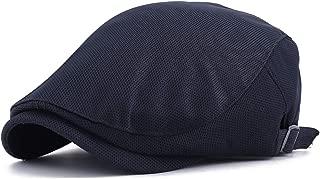 Shining-hat Baschi e Berretti da Uomo Scozzesi Berretto Piatto Coppola Brood Mesh Berretto da Uomo in Pelle da Donna con Cappello a Becco DAnatra