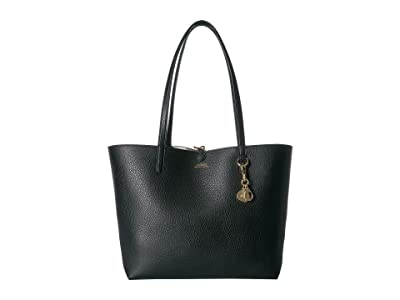 LAUREN Ralph Lauren Merrimack Reversible Tote (Black/Black Gingham) Tote Handbags