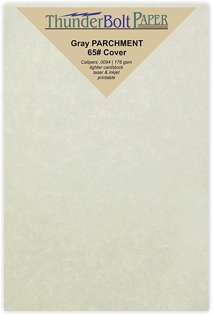 200 Gray Parchment 65lb Cover Weight Paper - 4