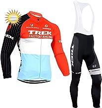XIAKE Fietsset voor heren, winter, tricot/jas, lange mouwen, fietsbroek, met 5D-voering