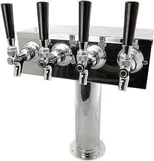 K&B 4 Faucet Tap Stainless Steel Beer Tower