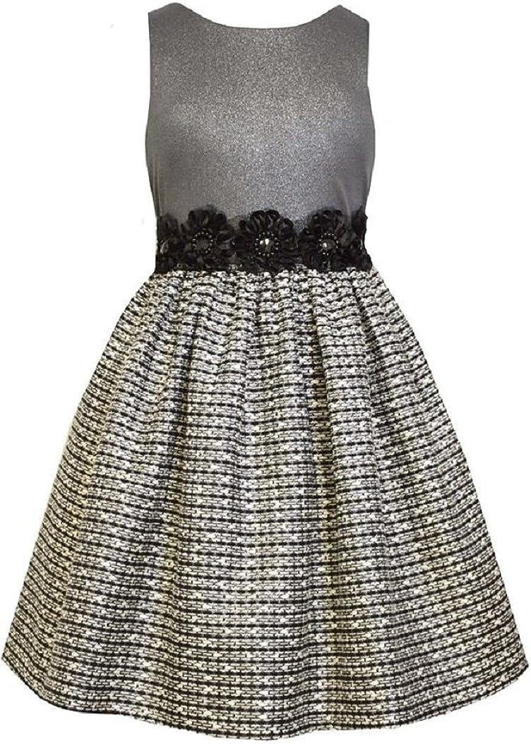 Bonnie Jean Big Girls Tween Foil to Metl Tweed Dress