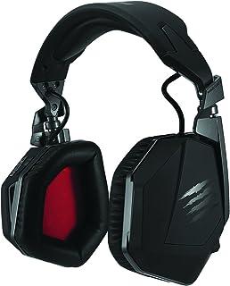Mad Catz F.R.E.Q. 9 Binaural Diadema Negro Auricular con micrófono - Auriculares con micrófono (PC/Juegos, Binaural, Diadema, Negro, Inalámbrico y alámbrico, Circumaural)