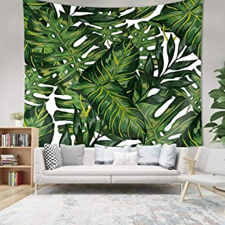 QuanCheng Tropical Plants Landscape Wall Tapestry Headboard Home Decor Wall Hanging Art(Multicolor) 59Wx51L Green W1-R149-...