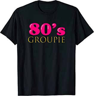 Cute 80s Groupie Tshirt Costume Party Outfit Women Tee