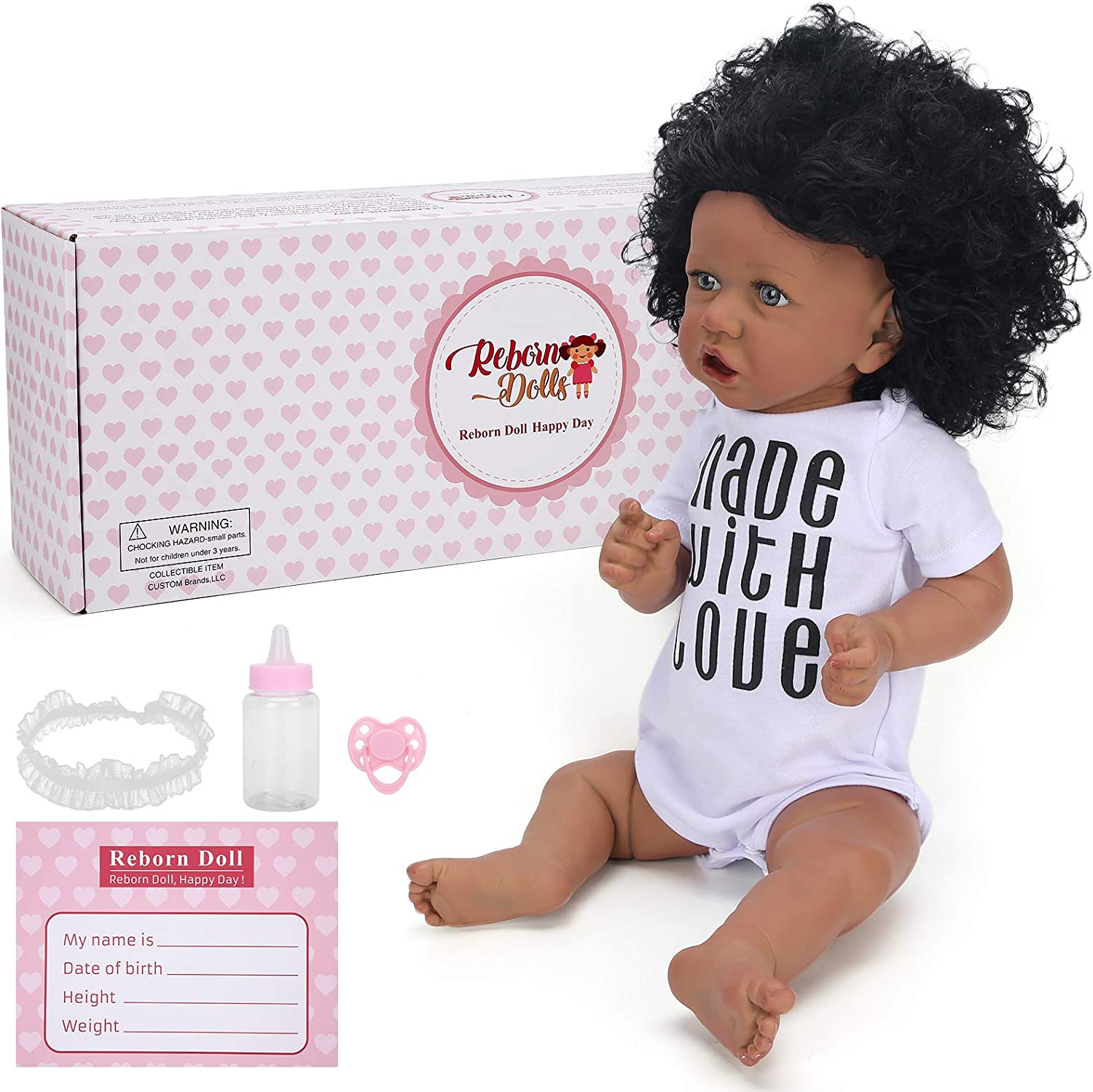 22in Soft Baby Doll 業界No.1 Lifelike Simulated White Do Shirt 激安超特価 Waterproof