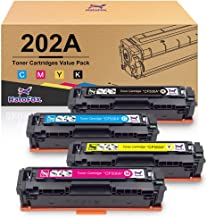 HaloFox Compatible HP 202A 202X Toner Cartridge High Yield for HP CF500A CF500X use for Laserjet Pro MFP M281cdw M281fdw M254dw M281 m281dw M280nw Printer (Black Cyan Magenta Yellow)