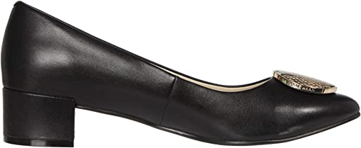 Black Leather/Amphora Exotic Snake Print Leather/Black