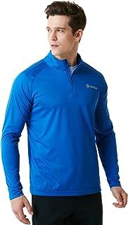 (テスラ)TESLA オールシーズン 長袖 スポーツシャツ 1/4ジップ [UVカット?クールドライ] プルオーバー MKZ