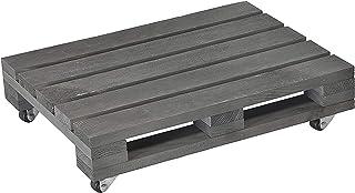 WAGNER Plantentrolley PALETTE SMALL 38 x 28 x 7 cm I voor buiten + binnengebruik I Van FSC® massief hout, gezaagd, antraci...