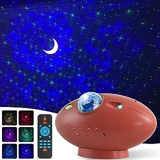Lampada Proiettore Stelle, Luce Notturna Bambini con 6 Modalità, LED Lampada Musicale Romantica Cielo Stellato, con Teleco...