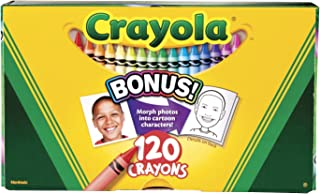 Crayola Non-Toxic Crayons in Hinged Top Box, Assorted Colors, Set of 120