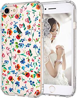 iPhone 8 Case, iPhone 7 Clear Case, MOSNOVO Wildflowers Floral Clear Design Printed Plastic Hard Back Case with TPU Bumper Protective Case Cover for Apple iPhone 7 / iPhone 8