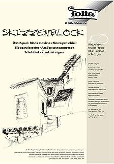 folia 8304 – Skizzenblock, DIN A4, 120 g/qm, weiß, 50 Blatt – hochfeines,..
