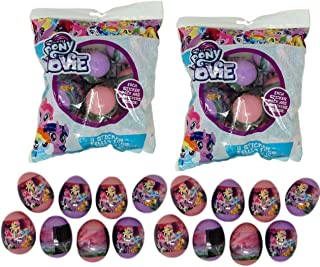 Paper Magic Sticker Filled Eggs (16 Count) for Easter Eggs Hunt, Decor, Baskets (My Little Pony)
