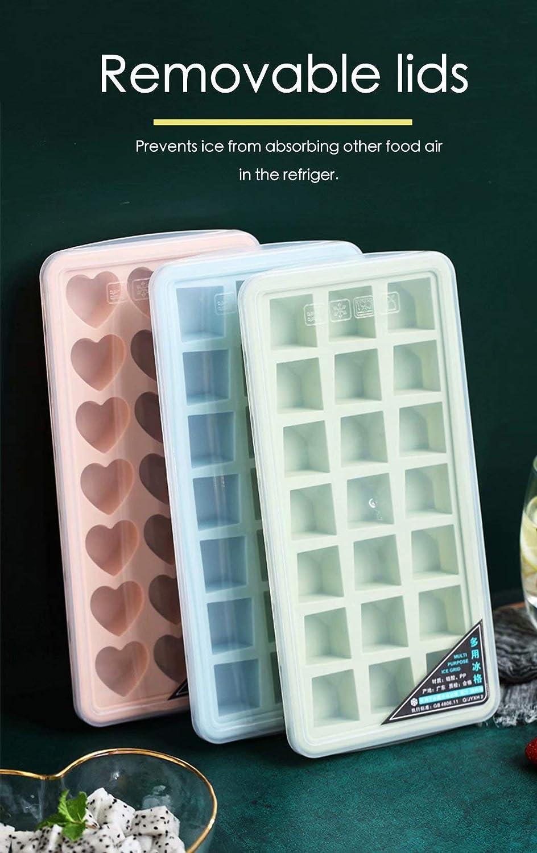BPA Free Silicone Ice Cube Molds Flexible 21-Ice Trays BPA Free ...
