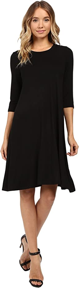 Christin Michaels - Abida 3/4 Sleeve Flowy Dress