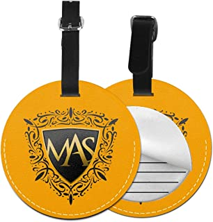 HUANGSHANGCENTAL Marco Antonio Solís PU Leather Round Luggage Tags Suitcase Labels Bag