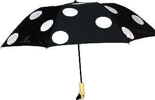 Guglia New York Duck Umbrella, Noir Black With White Polka Dot
