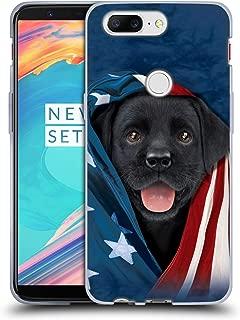 Official Vincent HIE Patriotic Black Lab Canidae Soft Gel Case Compatible for OnePlus 5T