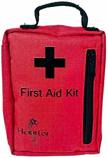 Herrlof 90 Pc. First Aid Kit - Compact Emergency First Aid Kit has Everything Needed to Treat Most Injuries - Perfect Camping First Aid Kit - Water Resistant Case - Makes a Great Vehicle First Aid Kit