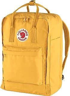 "Fjallraven Unisex's Kånken Laptop 17"" Backpack, Yellow, OneSize"