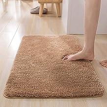 "ESUPPORT Bath Mats Rug Soft Natural Floor Carpet Non Slip Outdoor Entrance Doormats,19.6"" x 31.4""/Champagne"