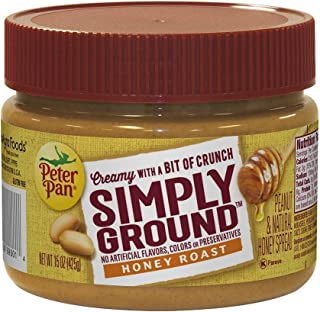 Peter Pan Simply Ground Honey Roast Peanut Butter, 15 Ounce